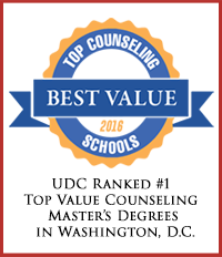 UDC Ranked #1 - Top Value Counseling Master's Degrees in Washington, DC