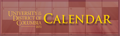 UDC University Calender of Events Image